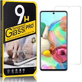 9H Screen Protector Compatible with Galaxy A91, CUSKING Tempered Glass Screen Protector for Samsung Galaxy A91, Anti Scratch, High Transparency, 3 Pack
