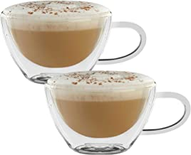 Glassware Home /& Kitchen Beverage Drinking Entertaining Circleware 92052 Thermax Double Wall Insulated Heat Resistant Espresso Latte Glass Cappuccino Tea /& Coffee Cups 2.7 oz 4pc. 4-Piece Set
