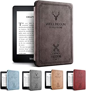 Amazon第10世代Kindle Paperwhite 4ケース 軽 薄 全面保護 電子書籍リーダー保護カバー オートスリープ機能 耐衝撃 KPW4 2018キンドルペーパーホワイト専用 (コーヒー)