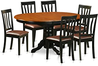 East West Furniture 7 Piece Table and 6 Kitchen Chairs Dining Set