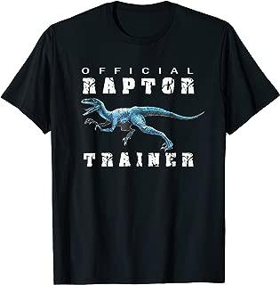 Jurassic Dinosaur Men Women Kids Blue Raptor Trainer T-Shirt
