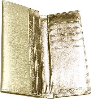 [Berkut] [シャンパンゴールド]薄型 二つ折り長財布 コンパクト