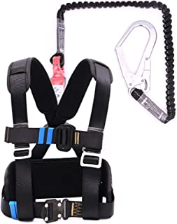 Industrial Fall Protection Safety Harness Kit, Half Body Fall Protection Safety Harness, Safety Harness, with Stretchable ...