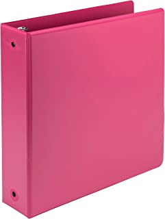 Samsill Earth's Choice Biobased 3 Ring View Binders, 2 Inch Round Ring, Up to 25% Plant Based Plastic, USDA Certified Biobased, Customizable Cover, Berry Pink