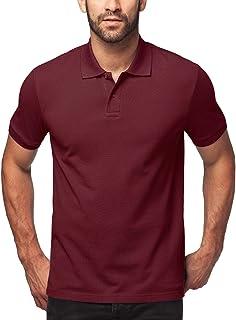 LAPASA 2020 Men's Polo Shirt Timeless Short Sleeves Polos for Men Original Pique Knit Breathable M19