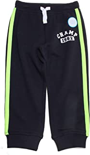 """Carter's Boy's Champ 1982"""" Pull-On French Terry Knit Joggers; Black & Yellow (6)"""