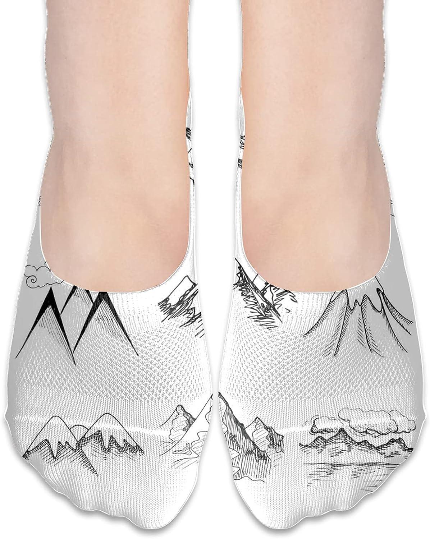 Fashion No Show Athletic Socks Ankle Socks For Women Cushion Low