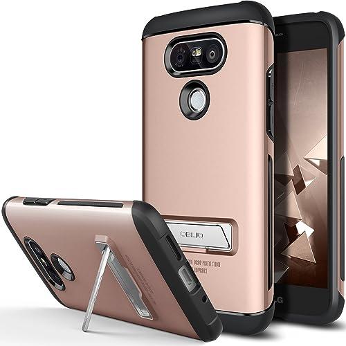 ca98f20162cbe6 LG G5 Case, OBLIQ [Skyline Advance][Rose Gold] with Metal Kickstand