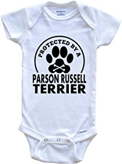 Protected by A Parson Russell Terrier Funny Baby Onesie