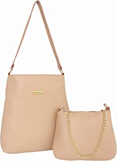 I DEFINE YOU Sara leatherette 3 in 1 Combo of Handbag, Sling and Wallet for Girls and Women