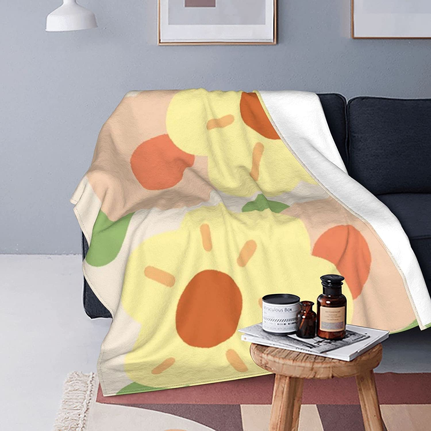 YAMADEI Super Soft Flannel Blanket 2021 autumn and winter new Flowers and Warm Comfortable Some reservation