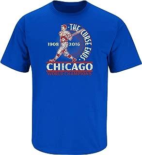 Chicago Baseball Fans. The Curse Ends Royal T-Shirt (Sm-5X)