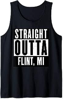 Straight Outta MICHIGAN Tshirt FLINT Home Tee V-Neck T-Shirt Tank Top
