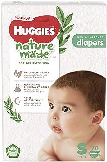 Huggies Platinum Naturemade Tape Diapers S 70s