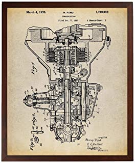 Turnip Designs Henry Ford Transmission Patent Poster Art Print Car Part Art Engine Art Automotive Decor Vintage Car TNP37