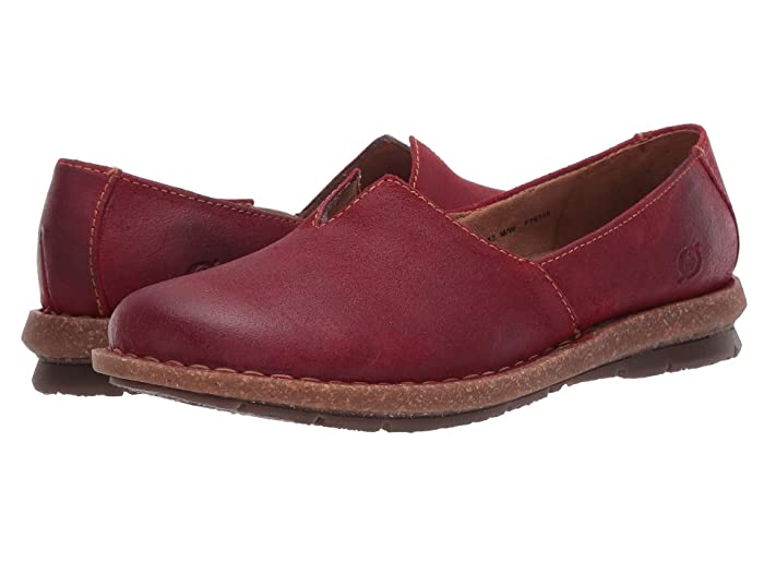 Born  Tropi (Red Distressed) Womens Flat Shoes