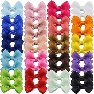 """40pcs 2.5""""Baby Girls Tiny Hair Bows Clips Grosgrain Ribbon Bows Hair Barrettes Accesorios para el cabello para niñas Niños..."""
