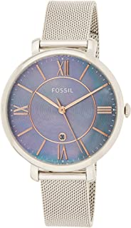 Fossil Womens Quartz Watch, Analog Display and Stainless Steel Strap ES4322