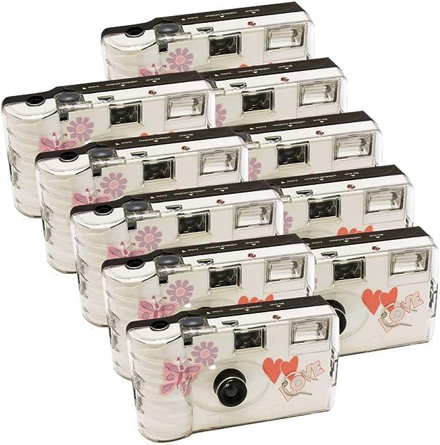 Photo Porst - Juego de 10cámaras desechables (27 fotos cada cámara con flash)