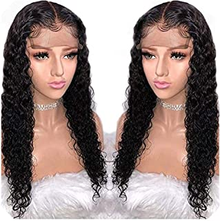 13X6 Deep Part Lace Front Human Hair Wigs Preplucked 360 Lace Frontal Closure Wig For Black Women Water Wave Peruvian Remy Wig,8inches,13x6 Lace Front Wig