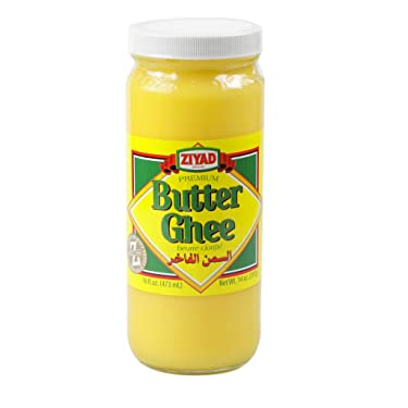 Ziyad Brand Butter Ghee, Clarified Butter, Perfect High Heat Cooking, Roasted Vegetables, Sautées, Hot Drinks (Chaider) and Finishing Oil! 16 oz