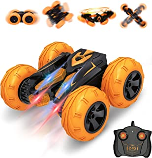 Remote Control Car, Vazillio RC Cars Stunt Car Toy, 2.4Ghz Hot Speed Racing Car, Stand 360° Rotate RC Car with Headlights,...