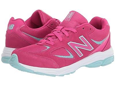 New Balance Kids GK888v2 (Big Kid) (Exhuberant Pink/Bali Blue) Girls Shoes
