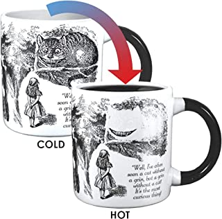 Disappearing Cheshire Cat Mug - Add Coffee or Tea and The Cheshire Cat Disappears Except for its Grin - Comes in a Fun Gift Box