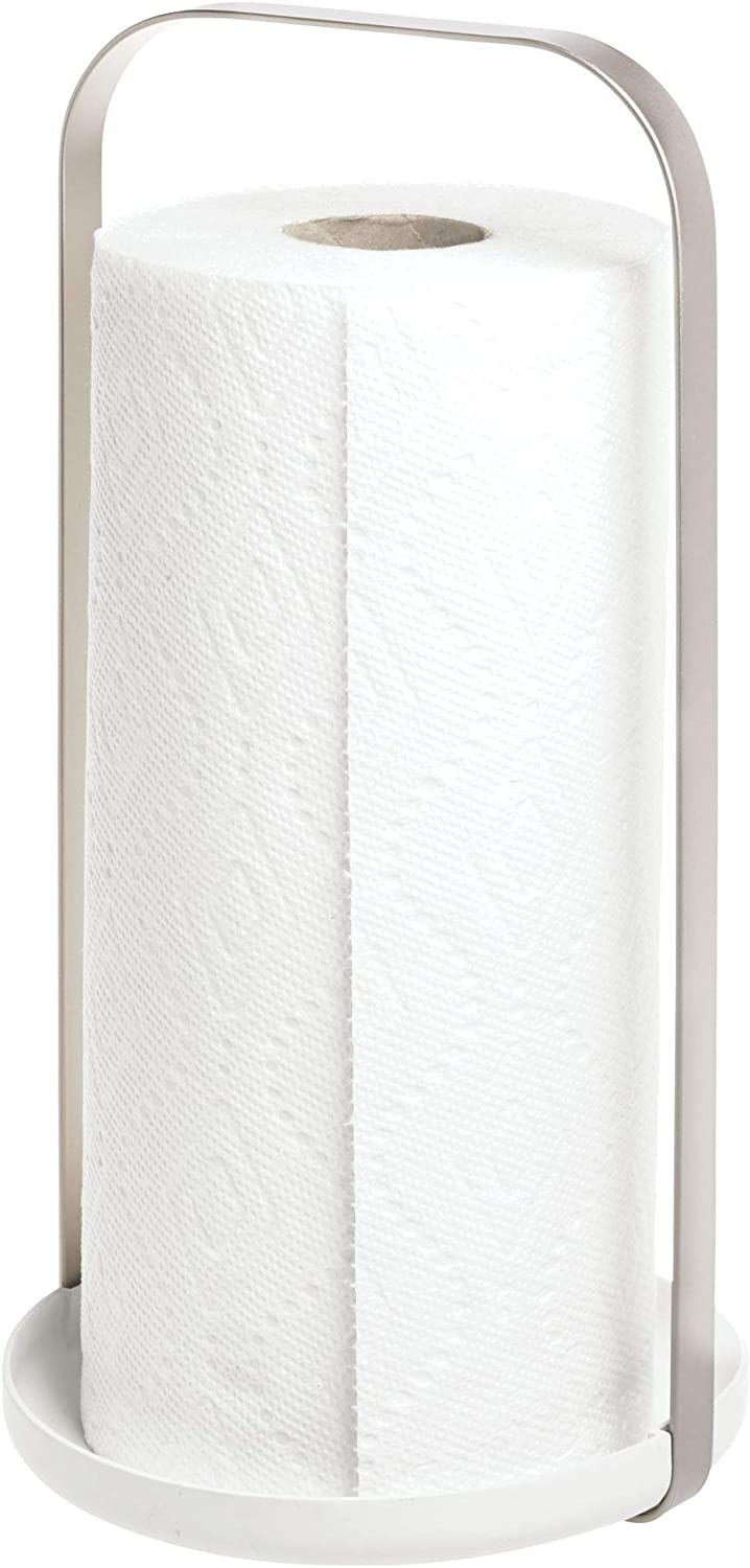 iDesign Austin Metal Free Standing Paper Towel Holder for Kitche