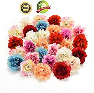 Silk Flowers in Bulk Wholesale Silk Flower Heads Wedding Artificial Flowers Birthday Party Decorative Faux Gifts Flower DIY Accessories 30Pcs/Lot 4.5cm (Multicolor)