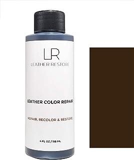 Leather Restore Leather Color Repair, Espresso Very Dark Brown 4 OZ - Repair, Recolor and Restore Couch, Furniture, Auto I...