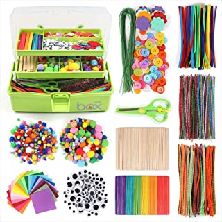 Tergoo Craft Kits for Kids, Art Crafts Supplies Box Set for Kids Toddlers Age 4 5 6 7 8 9 - Pipe Cleaners, Pom Poms, Felt,...