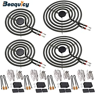MP22YA Electric Range Burner Element Unit Set by Beaquicy Replacement for Kenmore Whirlpool Maytag Hardwick Jenn Air Norge Ranges//Stoves Package Include 2 pcs MP15YA 6 and 2 pcs MP21YA 8
