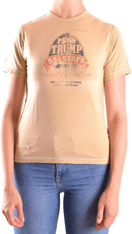Belstaff Women's MCBI25373 Beige Cotton TShirt