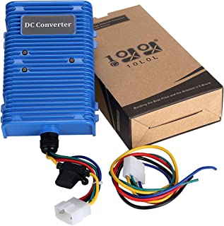 10L0L 30 Amp Golf Cart Voltage Reducer Voltage Converter (36v/48v to 12v) with Dual Power Source Fits on Club Car E-Z-GO 360 Watt!