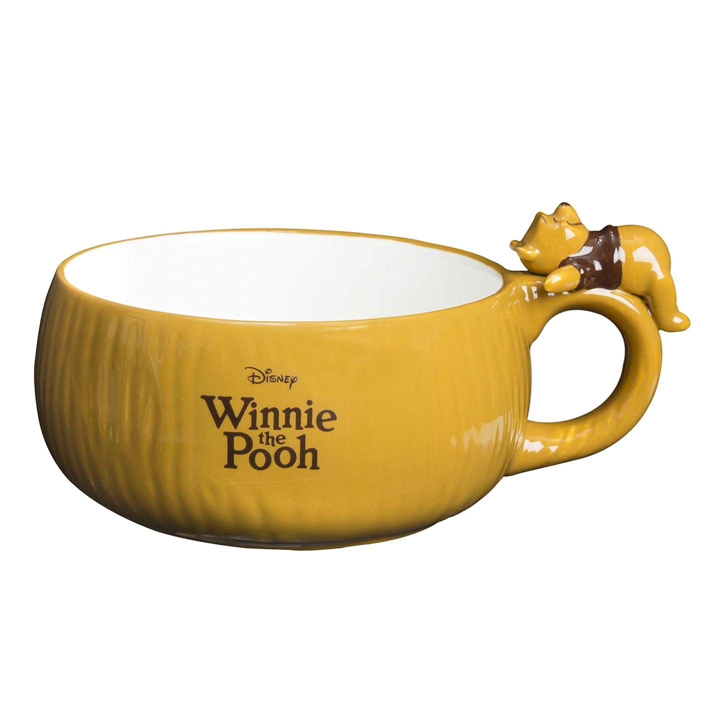 ご注意先のことを考える底ディズニー 「 くまのプーさん 」 プーさん まったりスープカップ 390ml SAN2736