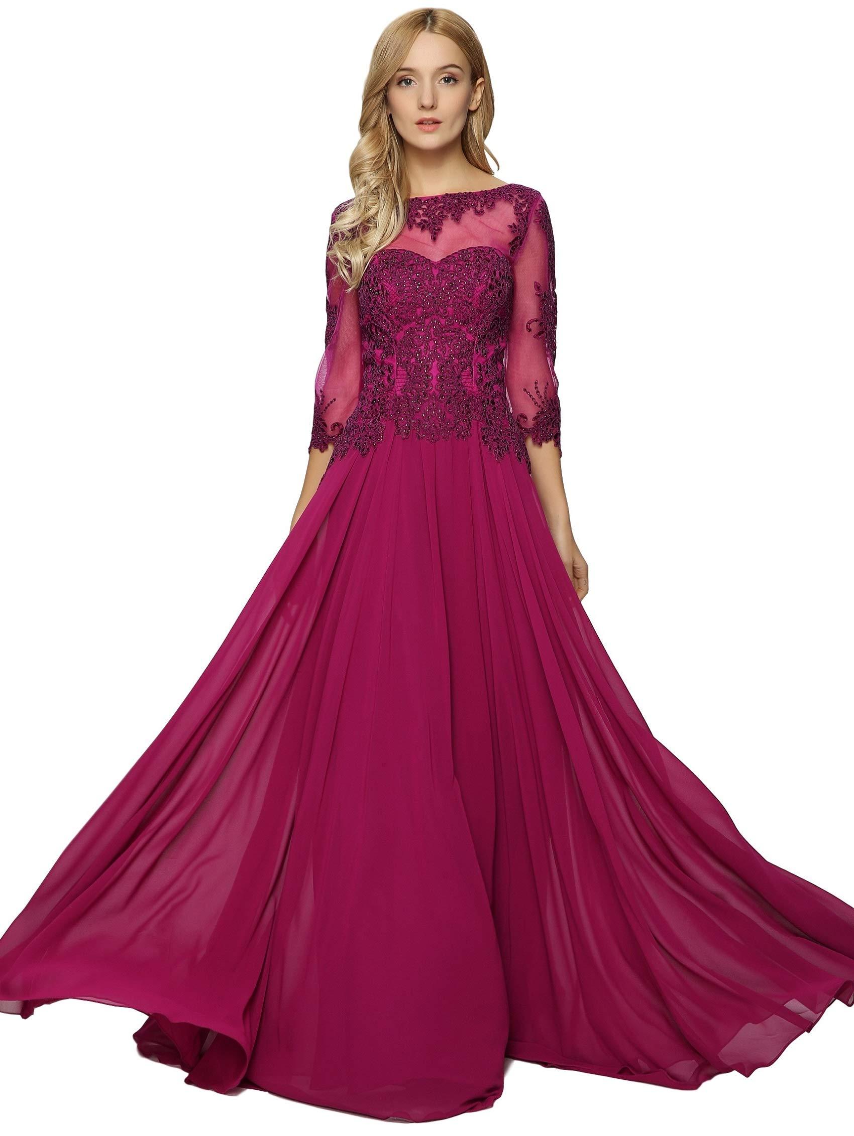 Meier Womens Appliqued Evening Raspberry