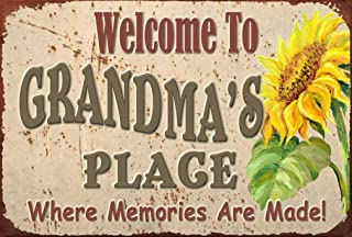 Pet Project Novelty Signs Welcome to Grandma's Place Where Memories are Made - 9 inch by 6 inch MDF Composite Wood Novelty Sign Ships from Ontario, Canada. Comes with a Cord Attached.