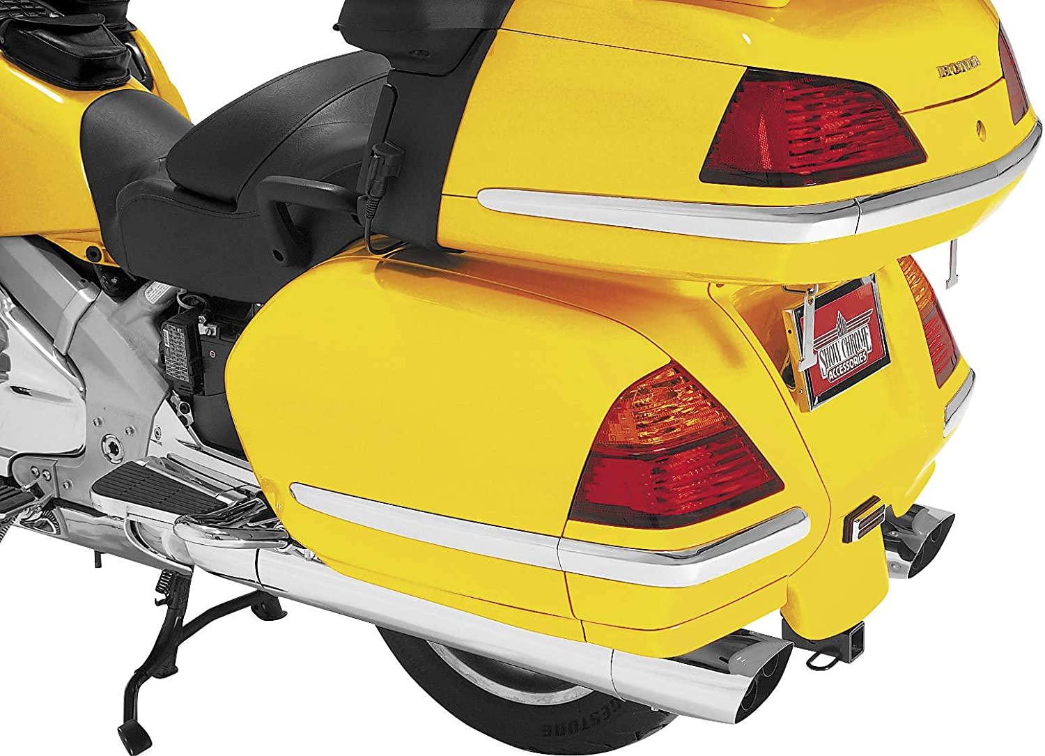 Saddlebag Molding Reservation Inserts Fits Show Free shipping anywhere in the nation 52 Gl1800 Chrome Honda 01-10