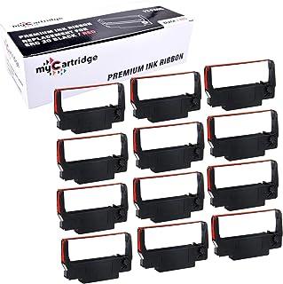myCartridge ERC30 ERC-30 ERC 30 34 38 B/R Compatible Ribbon Cartridge for use in ERC38 NK506 (Black Red, 12-Pack)