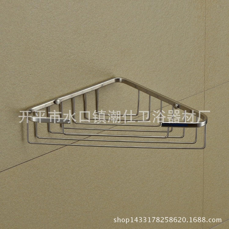 Stainless steel basket for basket bathroom corner shelves bathroom corner shelf wall mount triangle shelf basket