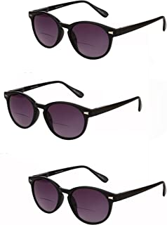 """""""The Brilliance"""" 3 Pair of Bifocal Sunglasses for Men and Women, Outdoor Sun Readers - 3 Microfiber Carrying Cases Included"""