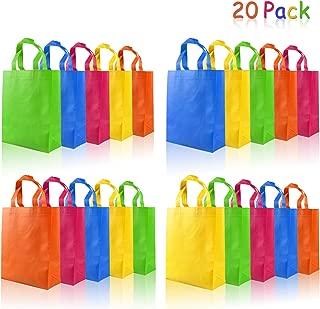 aovowog 20 Pcs Bolsas Regalo de Fiestas con Asas no Tejidas para Cumpleaños Navidad Baby Shower Boda, 5 Colores