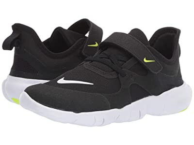 Nike Kids Free RN 5.0 (Little Kid) (Black/White/Anthracite/Volt) Kids Shoes
