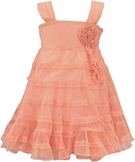 Baby Girls' Wild Roses Toddler Dress Coral Pink