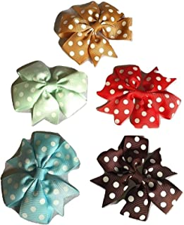 Xldreams 5 Polka Dotted Kids Snap/tiktok Imported clips for kids festival/wedding/Party Assorted colors