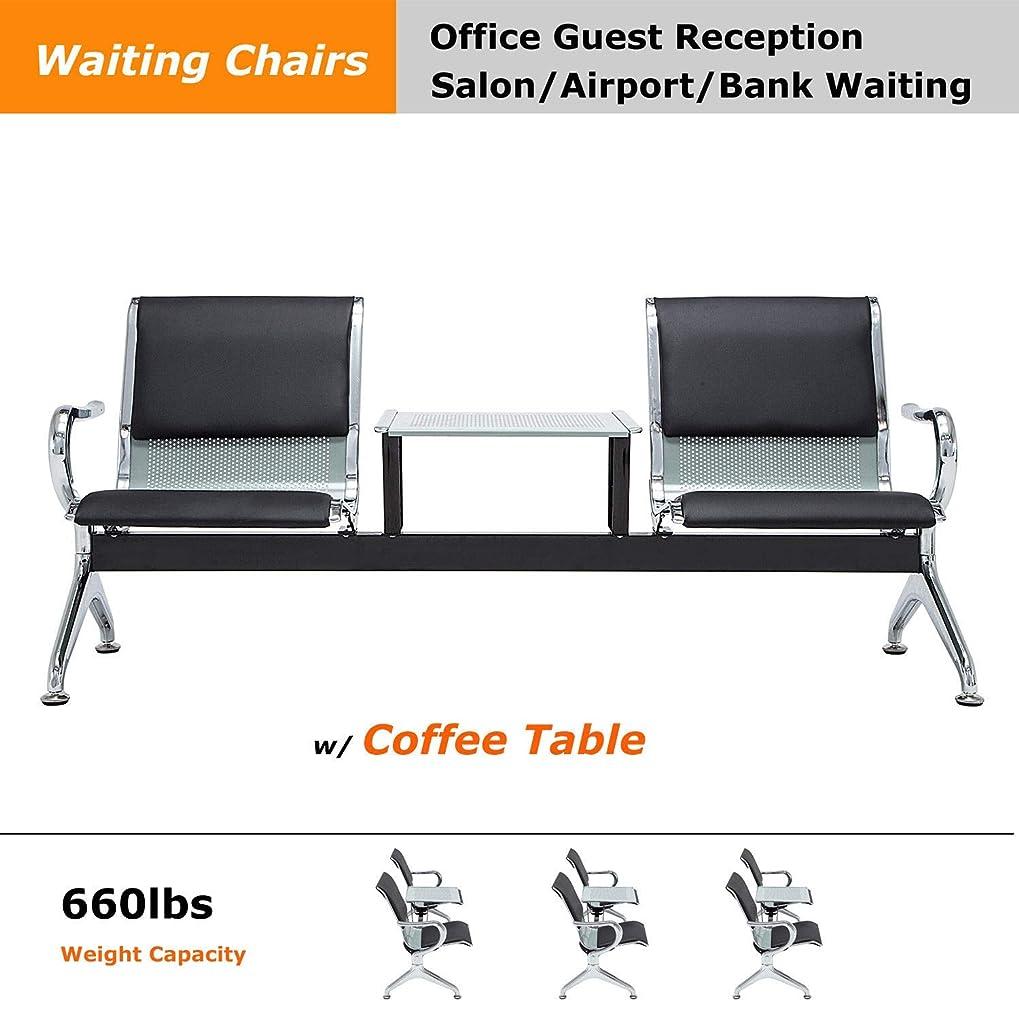 ブレンドスライスすぐにヘビーデューティー オフィス エリア 空港レセプション 待合室 チェア テーブルベンチ付き 3シート