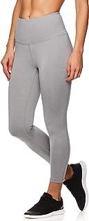 Women's Capri Leggings w/High-Rise Waist - Performance Compression Tights - Grey Heather, Medium