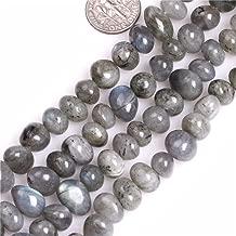 Labradorite Beads for Jewelry Making Natural Gemstone Semi Precious 8x12mm Freeform Potato 15