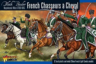 Black Powder Napoleonic Wars French Chasseurs a Cheval Figures 1:56 Military Wargaming Plastic Model Kit